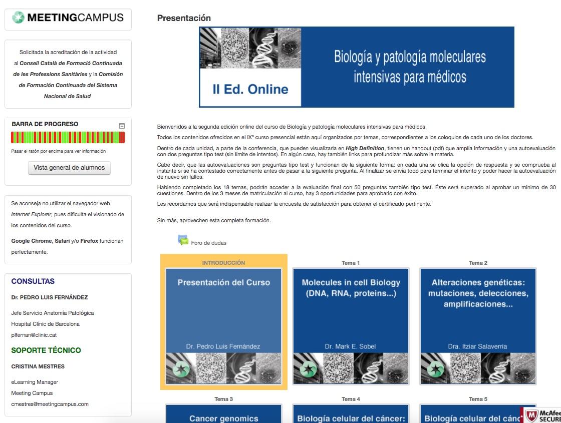 Curso II Ed. Biología y patología moleculares para médicos